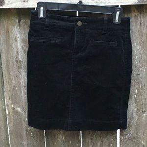 Ann Taylor LOFT corduroy mini skirt in black